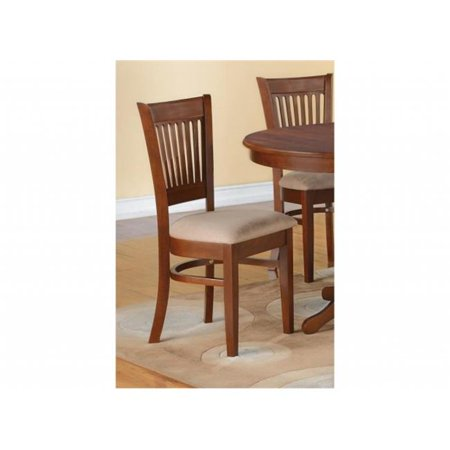 Three Seat Upholstered Chair (East West VC-ESP-C Vancouver Microfiber Upholstered Seat Chairs, Espresso - Pack of 2)