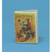 Dollhouse Jolly Saint Nick Readable Book Antique Repro