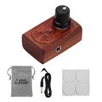 Adeline AD-81 Self-adhesive Wooden Guitar Pickup Transducer with Control 3.5mm Output Audio Cable for Acoustic Classic Folk Guitar Ukulele Violin Mandolin Cajon