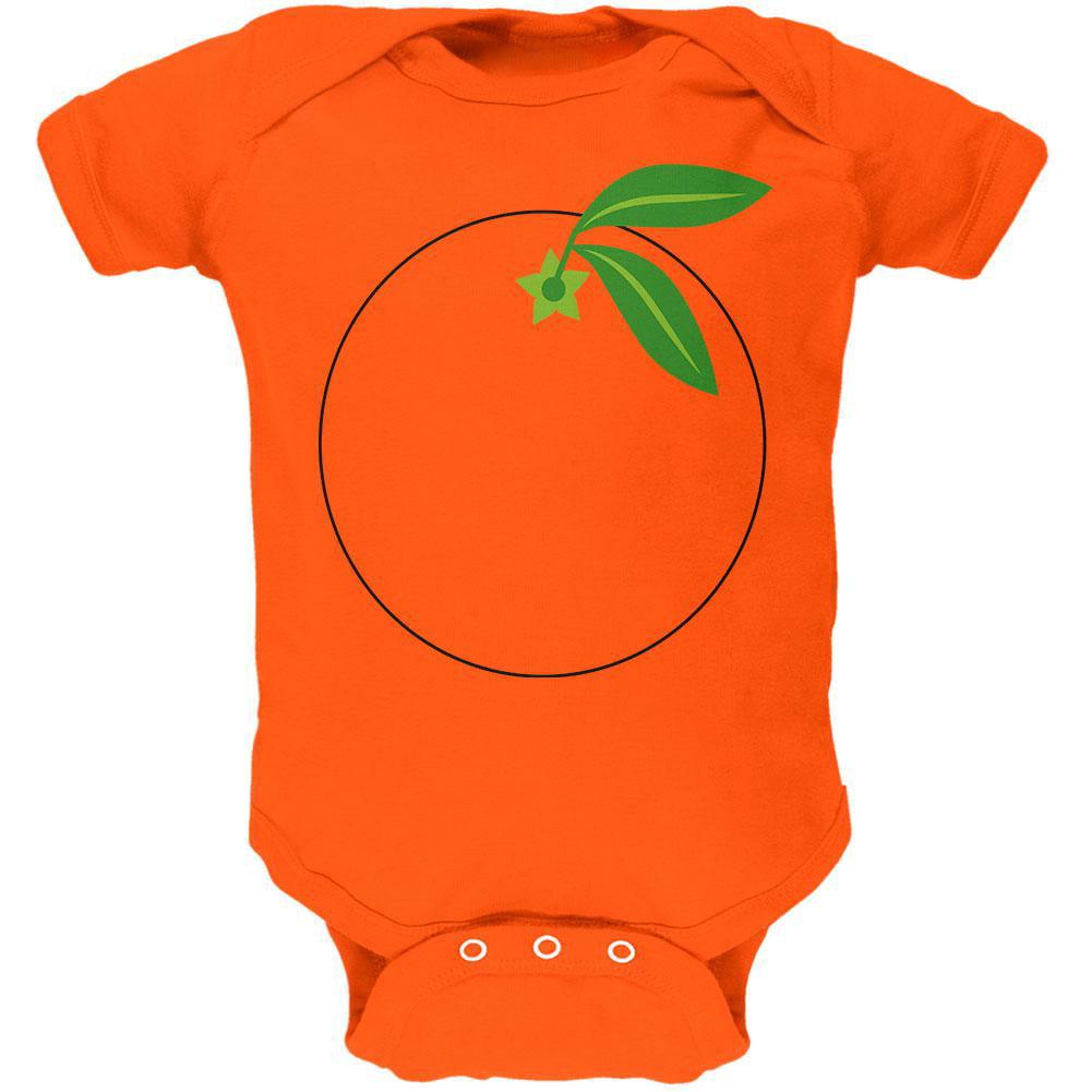 Halloween Fruit Orange Costume Soft Baby One Piece