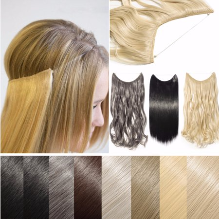 S-noilite Hidden Invisible Wire in Synthetic Hair Extension Not Clip ...