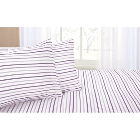 Mainstays Stripes Sheet Set, Multiple Colors