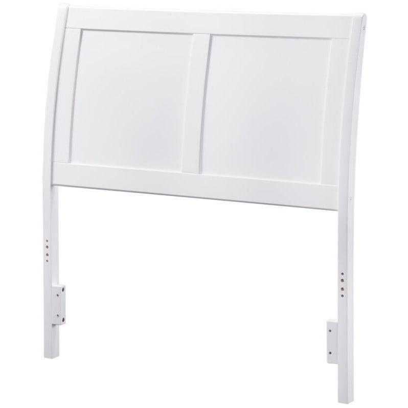 Atlantic Furniture Portland Sleigh Headboard in White by Atlantic Furniture
