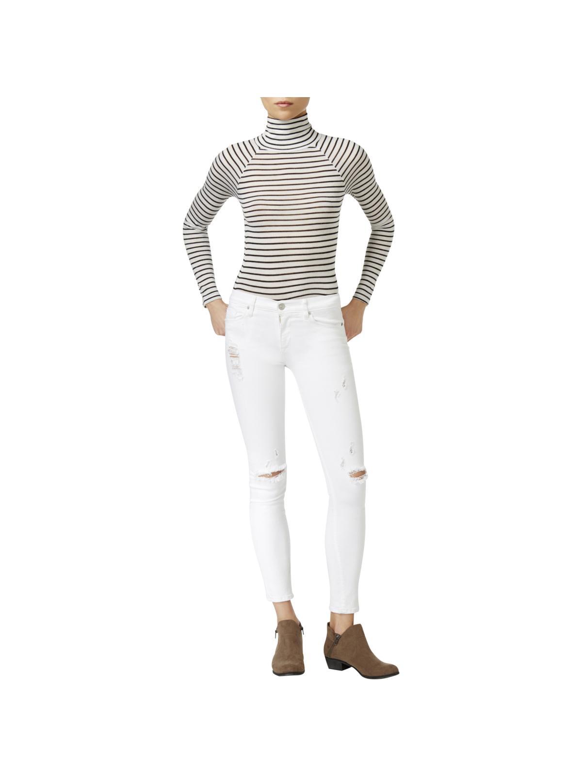 Hudson Womens Nico Ripped Strife Wash Skinny Jeans