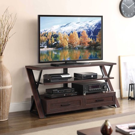 Stinson Brown Flat Panel TV Console for TVs up to 60″
