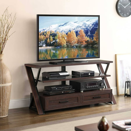 Stinson Brown Flat Panel TV Console for TVs up to 60
