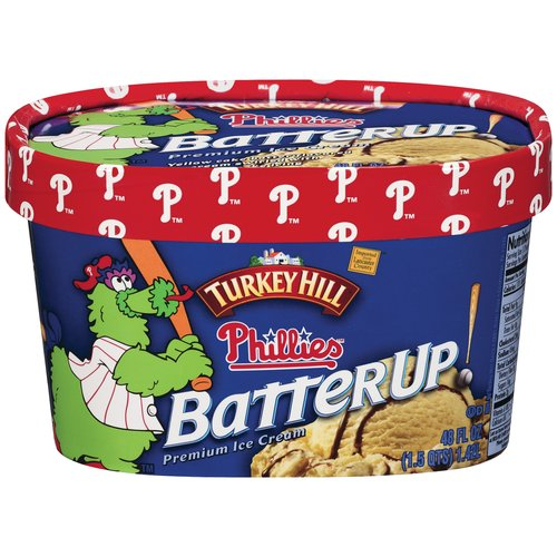 Turkey Hill Phillies Batterup Premium Ice Cream, 48 fl oz