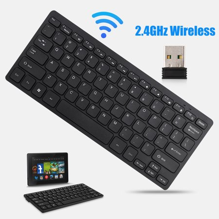 Wireless Keyboard, TSV 2.4Ghz Batteries Power Ultra Slim Light Weight Keyboard Compatible with Laptop Desktop PC Tablet, Windows iOS (Best Lightweight Antivirus Android)