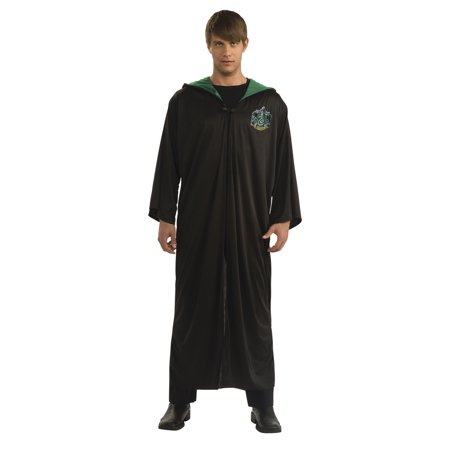 Harry Potter Slytherin Robe Adult Halloween Costume (Halloween Costumes For Male Adults)
