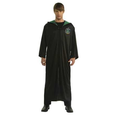 Harry Potter Slytherin Robe Adult Halloween Costume (Offensive Halloween Costumes For Adults)