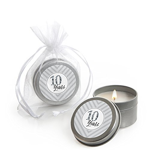 We Still Do - 10th Wedding Anniversary - Candle Tin Party Favors (Set of 12)