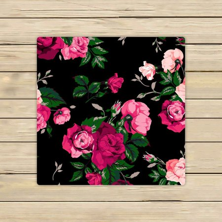 GCKG Red Rose Flower Pink Floral Beach Towel Shower Towel Wrap For Home and Travel Use Size 13x13 inches