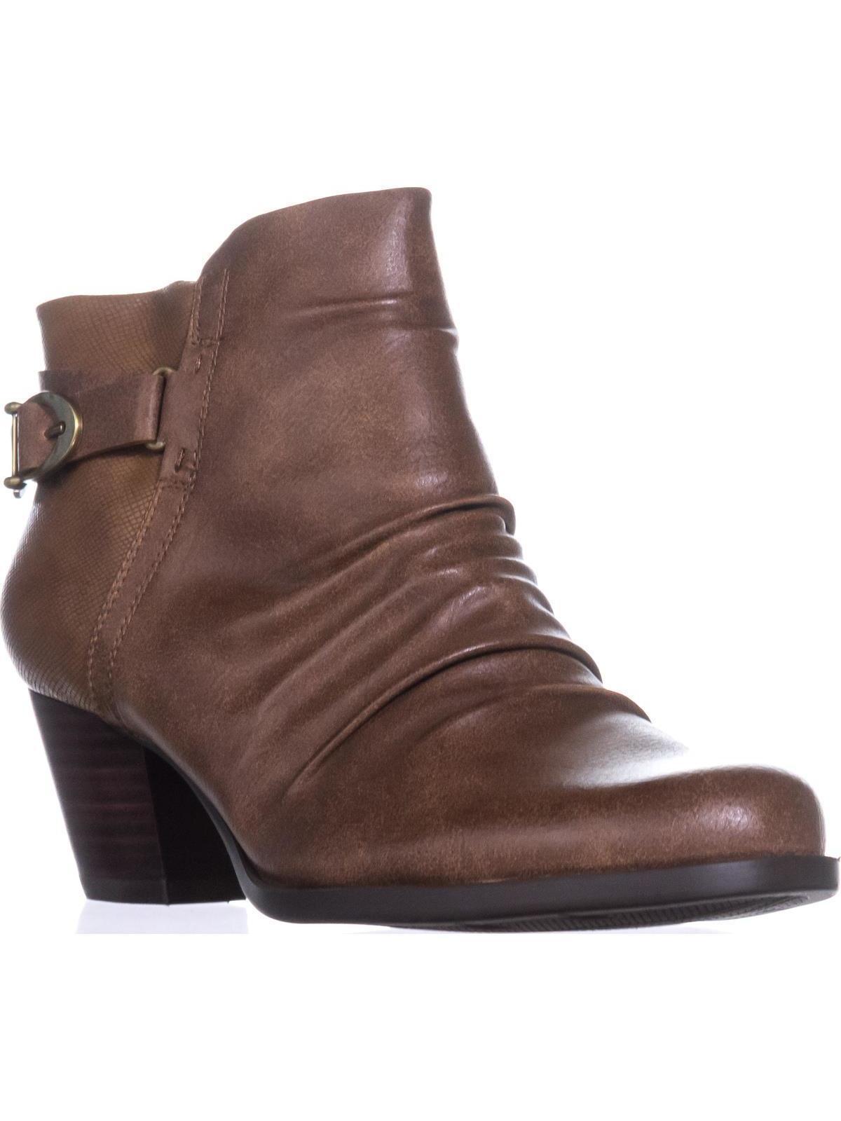 Womens BareTraps Reliance Srunch Ankle Boots, Cognac