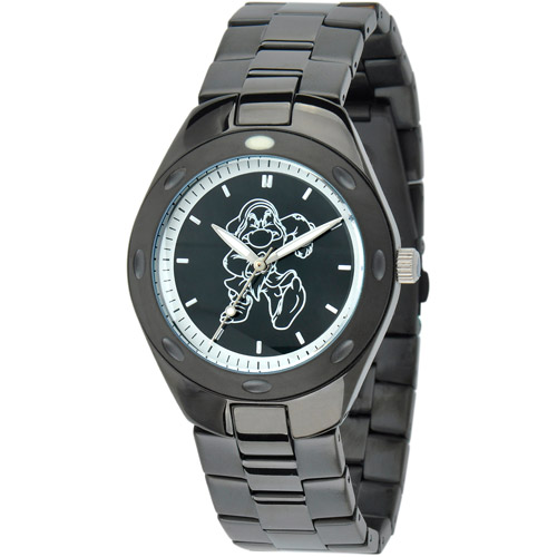 Disney Grumpy Men's Fortaleza Stainless Steel Watch, Black Bracelet
