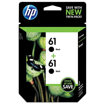 HP 61 Black Original Ink, 2 Cartridges (SM599FN)