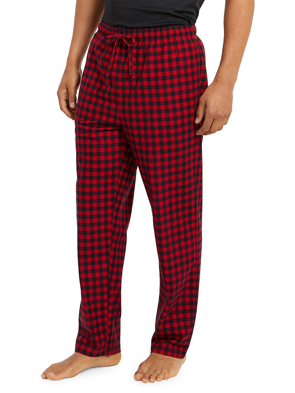Cozy Fleece Gingham Pants
