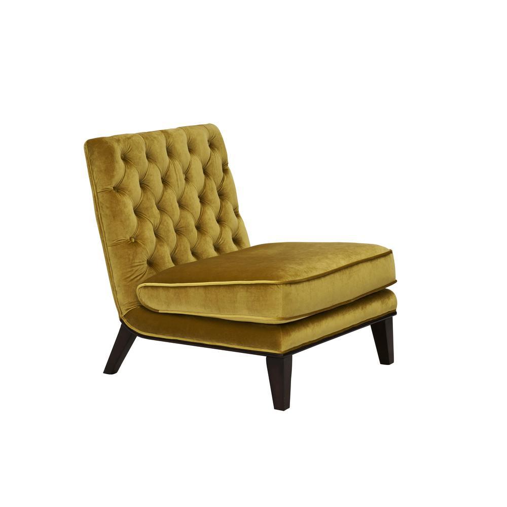 Superb Chic Home Achilles Modern Neo Traditional Tufted Velvet Slipper Accent Chair Cognac Theyellowbook Wood Chair Design Ideas Theyellowbookinfo