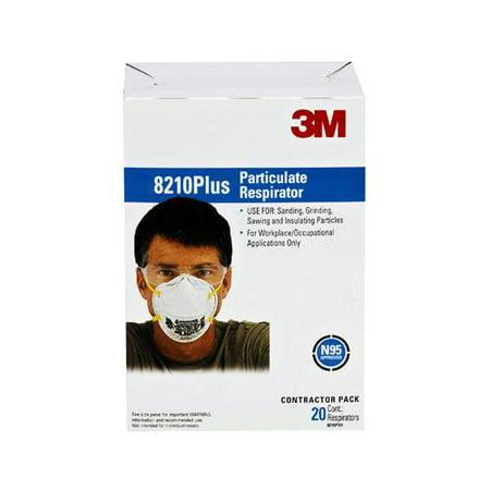 8210ppb1-a 3m Facepiece Respirator N95 Particulate 20-pack Filtering