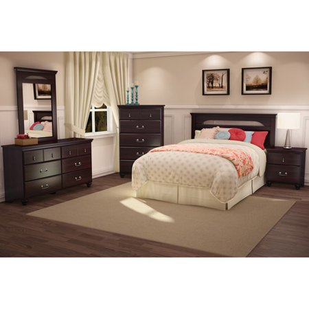 South shore noble 5 piece bedroom set dark mahogany - South shore 4 piece bedroom furniture set ...