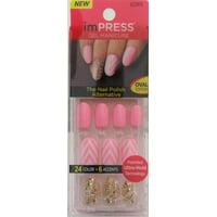 Product Image Kiss Impress Next Wave Oval Short Press On Manicure Nails