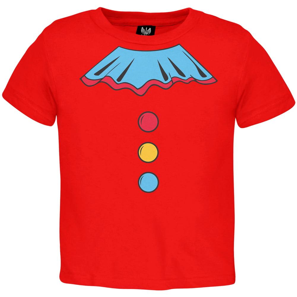 Halloween Clown Costume Toddler T-shirt