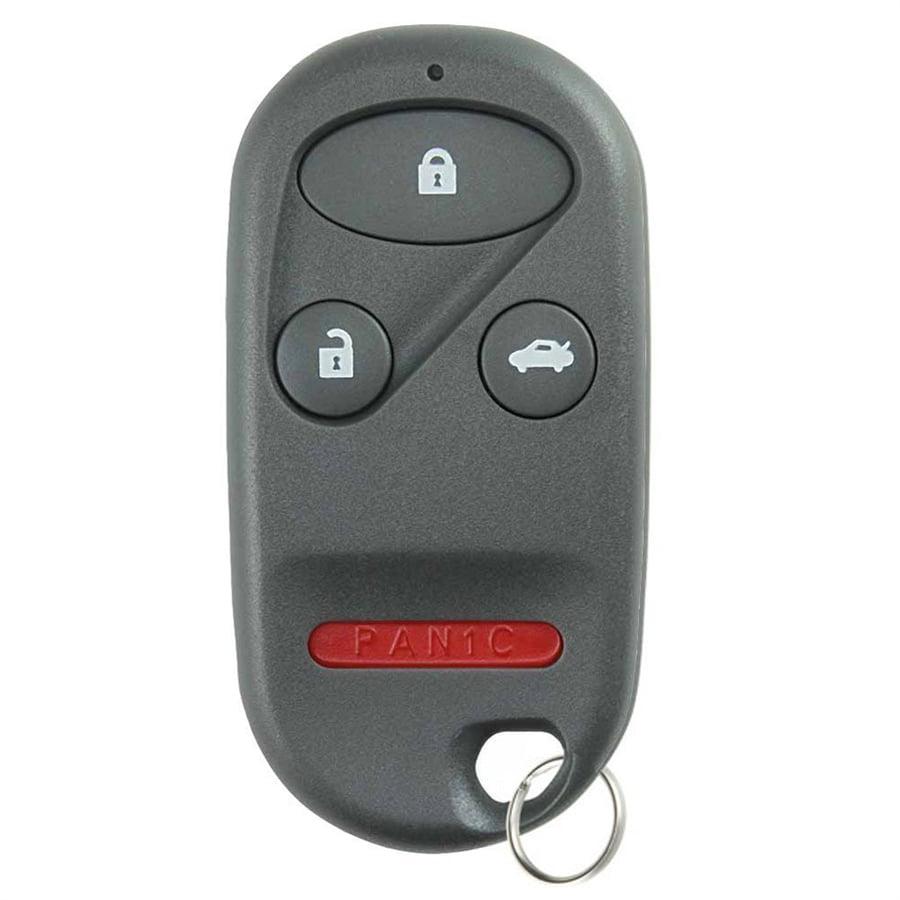 2 Car Fob Remote Key Shell Case Chip Slot 4B For 2005 2006 Honda CR-V CRV CR V