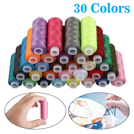 - 30 Brother Colors, EEEkit Polyester Embroidery Machine Thread Kit, High strength thread Rainbow color For manual embroidery or sewing machine sewing kit