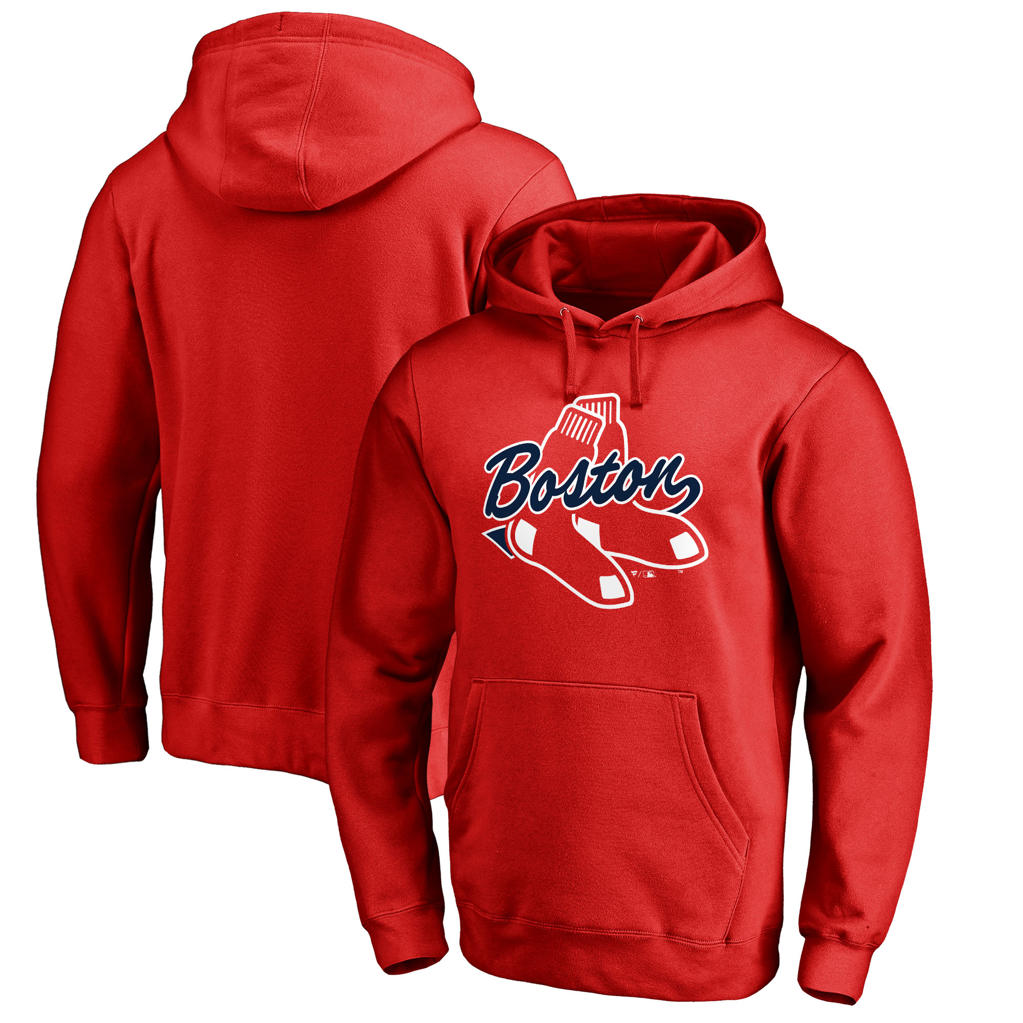 Boston Red Sox Fanatics Branded Big & Tall BoSox Hometown Collection Pullover Hoodie - Red