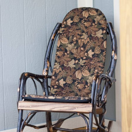 Hickory Chair Cushion - Leaves and Acorns