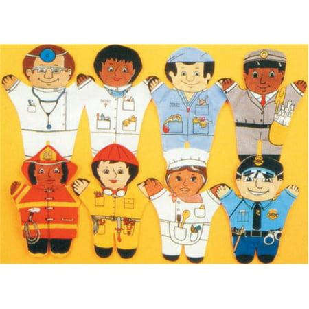 - Dexter Educational Toys DEX850W Community 8 Piece Puppet Set - Caucasian