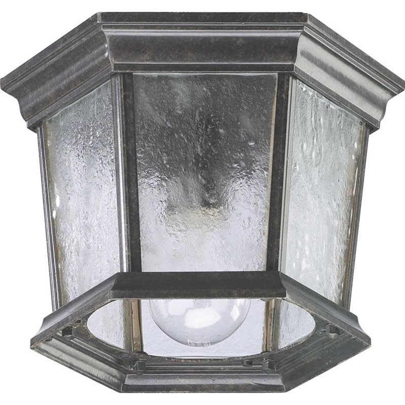 Quorum 1 Light Outdoor Flush Mount in Baltic Granite