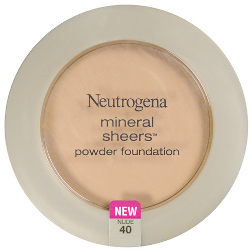 Neutrogena Mineral Sheers Compact Powder Foundation SPF 20, Nude 40, 0.34 oz