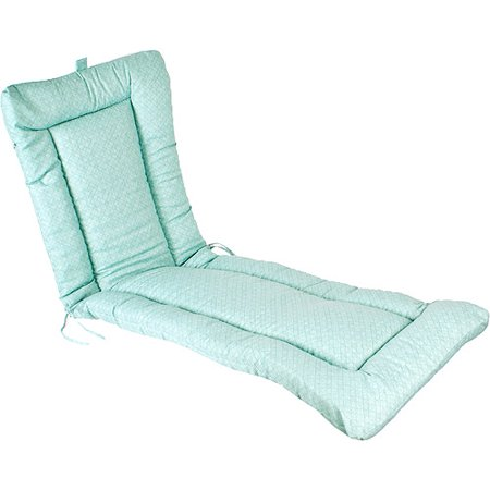 Haven aqua wrought iron chaise lounge cushion for Aqua chaise lounge cushions