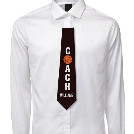 2wd Ball Tie (Basketball Coach Personalized Mens Tie )