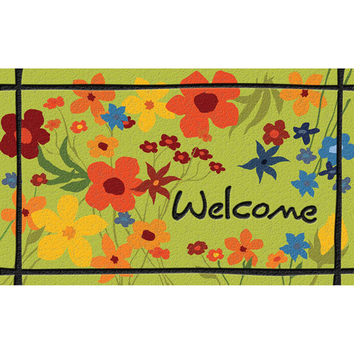 "Masterpiece Wildflower ""Welcome"" Doormat"