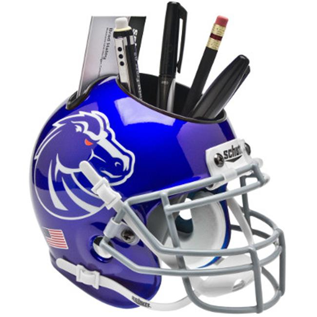 Athlon CTBL-015365 Boise State Broncos New Blue NCAA Football Schutt Mini Helmet Desk Caddy