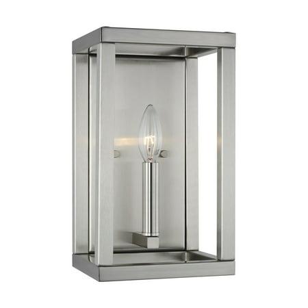 "Sea Gull Lighting 4134501 Moffet Street Single Light 12"" Tall Bathroom Sconce"