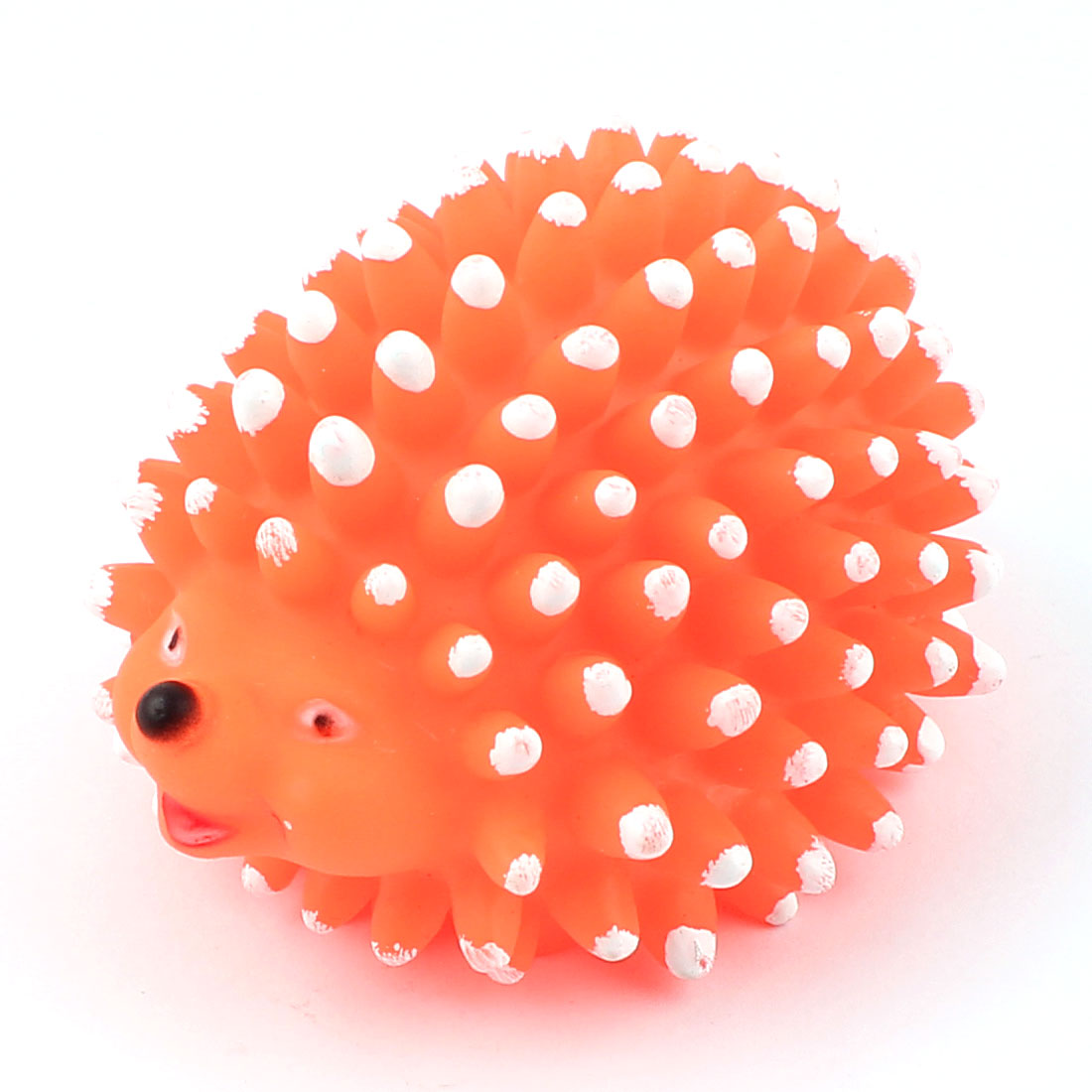 Rubber Hedgehog Shaped Pet Dog Doggie Puppy Sounding Chew Squeaky Toy