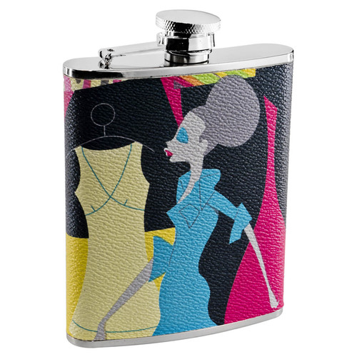 Visol Products Fashion Stainless Steel Liquor Flask for Women