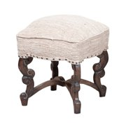 GuildMaster Scrolled Stool in Gray