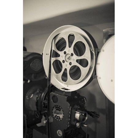 Albuquerque, New Mexico, USA. Central Ave, Route 66 Vintage Film Projector at the Kimo Theater Print Wall Art By Julien - Halloween Central Ave