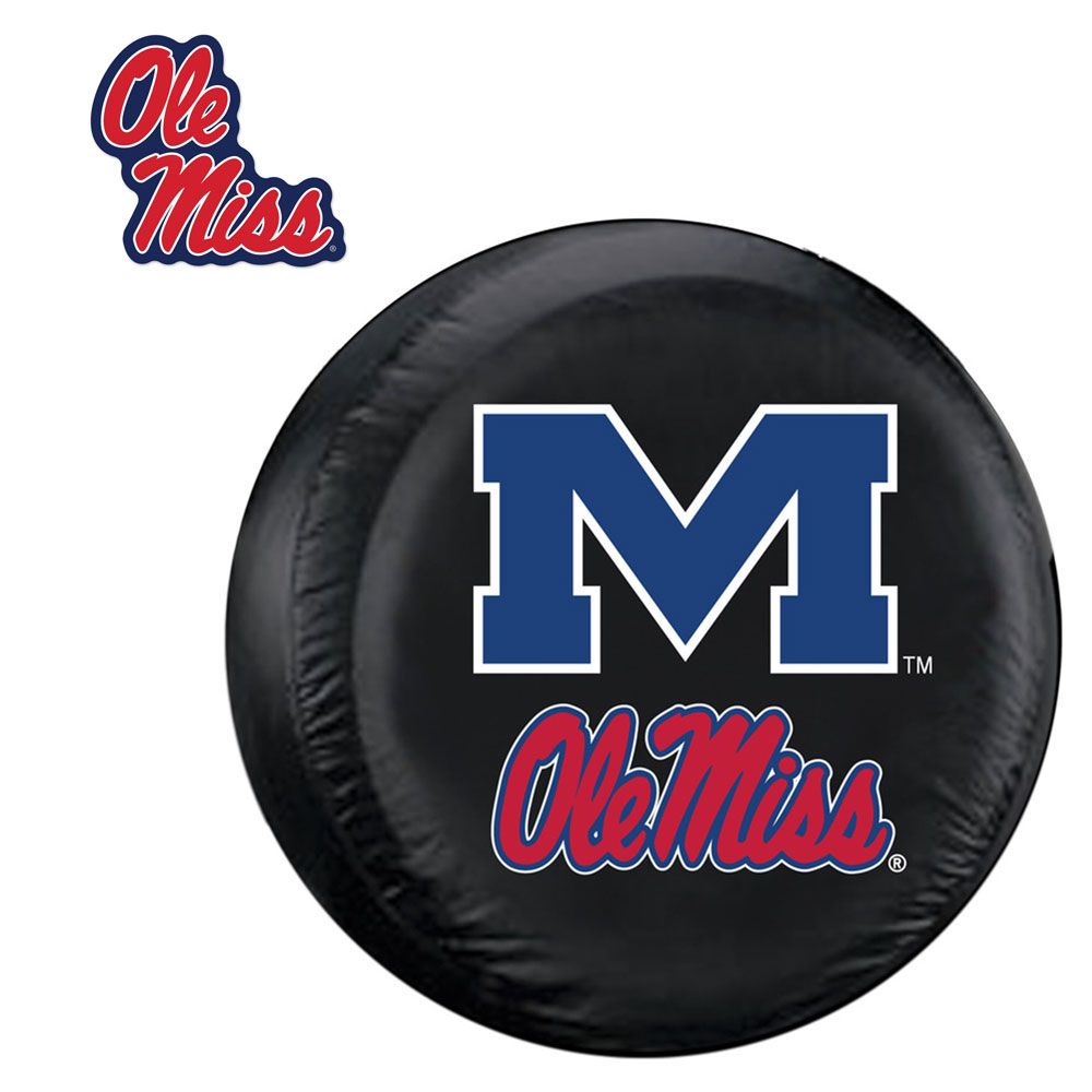 Internet Fulfillment Services IFS-COL-MSR-TCGOGO-S Mississippi Rebels Ncaa Spare Tire Cover And Grille Logo Set [regular]