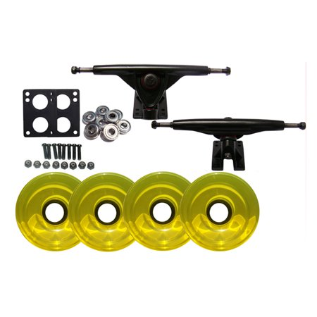 LONGBOARD SKATEBOARD 180 TRUCKS & 76mm WHEELS Package
