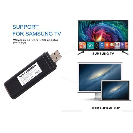 Codream USB TV wireless Wi-Fi adapter for 802.11ac 2.4GHz and 5GHz dual-band wireless network USB Wifi adapter for Samsung Smart (Samsung Wireless Lan Adapter For Smart Tv)