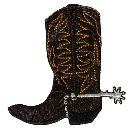 Western & Country Themed CDX Cowboy Boot PATCH - Officially Licensed Original Artwork, 2.9' x 3', Iron-On / Sew-On Embroidered - Western Theme Wedding