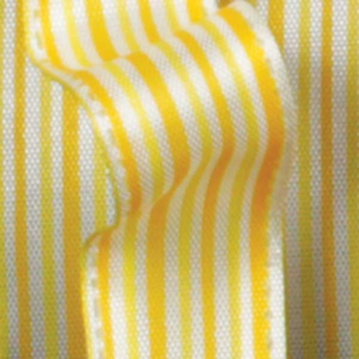 "Ribs of Yellow and White Thin Striped Wired Craft Ribbon 5/8"" x 60 Yards"