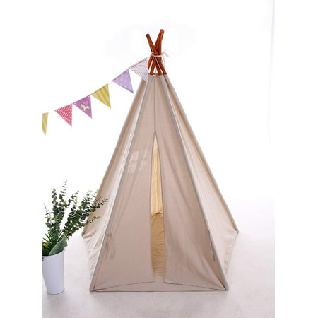 Best Teepee Tent for Kids with Window & Floor, Including Style Matching Accessories & Carrying Case — Great Kids Teepee for Indoor Playroom &