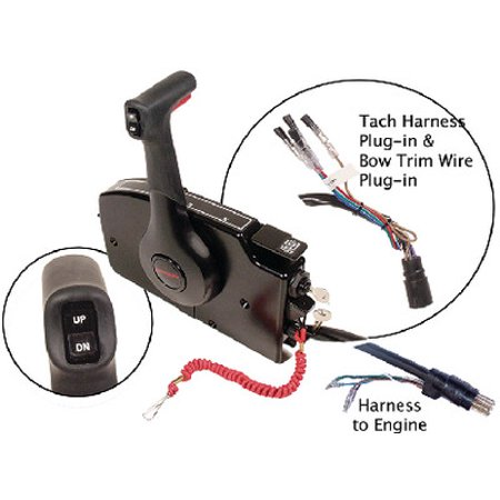 Mercury Control (OEM Mercury Marine Outboard Side Mount Remote Control 20ft Harness)