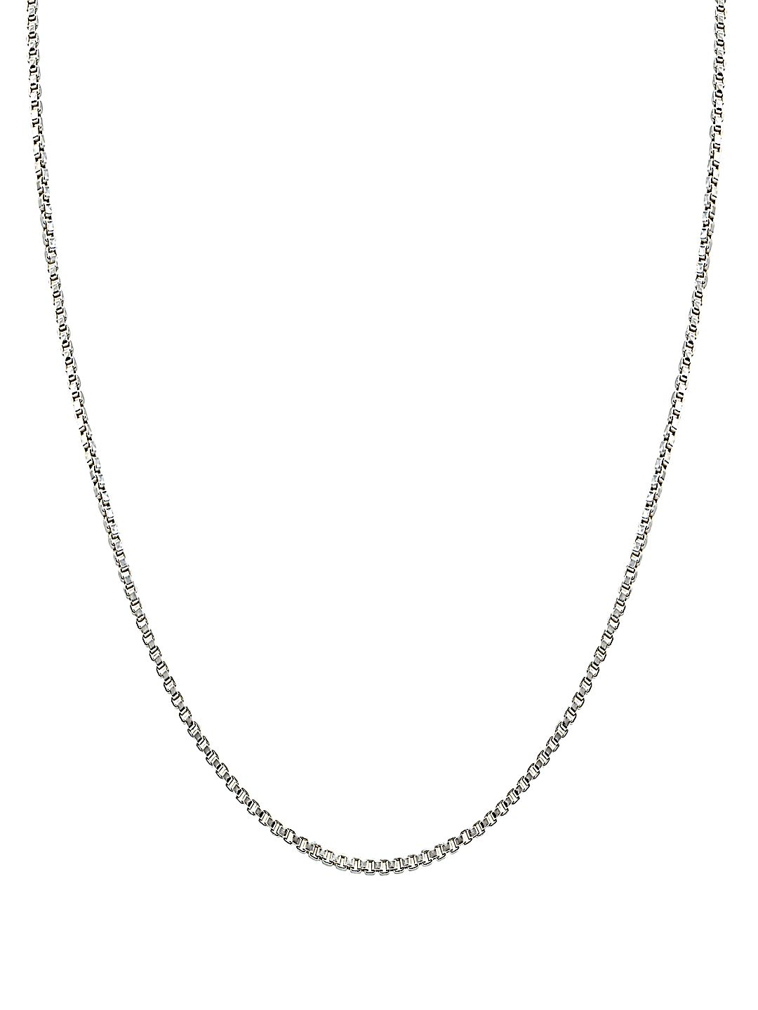 Sterling Silver Thin Box Chain Necklace