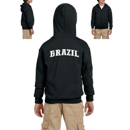 Brazil Hoodie Country Travelers Gift Ideas Places to Travel in Rio de Janeiro Brazilian Gifts  Youth Hoodies Zip Up Sweater